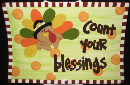 Count Your Blessings Platter