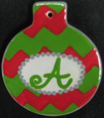 Initial Christmas Ornament