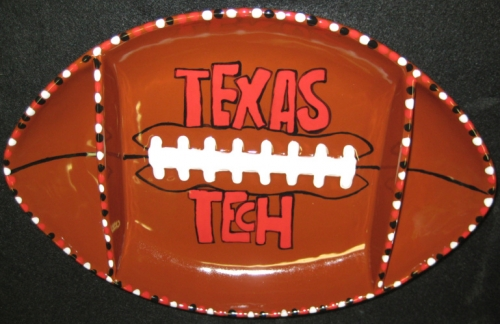 Football Chip and Dip Platter