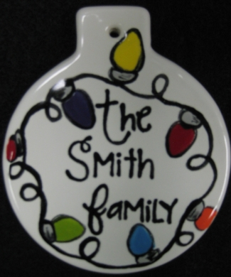 Christmas Light Family Ornament