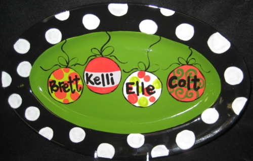 Family Ornaments Platter