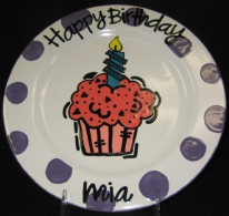 Polka Dot Birthday Plate