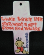 Twinkle Twinkle Cross Ornament