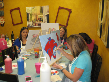 Cooper's Coaches Wives Painting Canvas