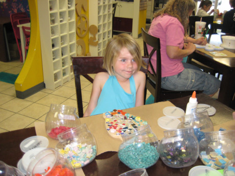 Sweet Girl doing her Mosaic!